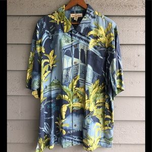 Tommy Bahama Silk Short Sleeve Button Down XL